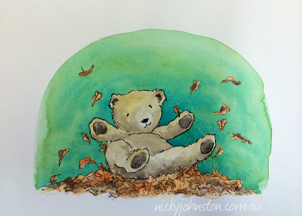 52-week-challenge-nicky-johnston-illustration-leaves