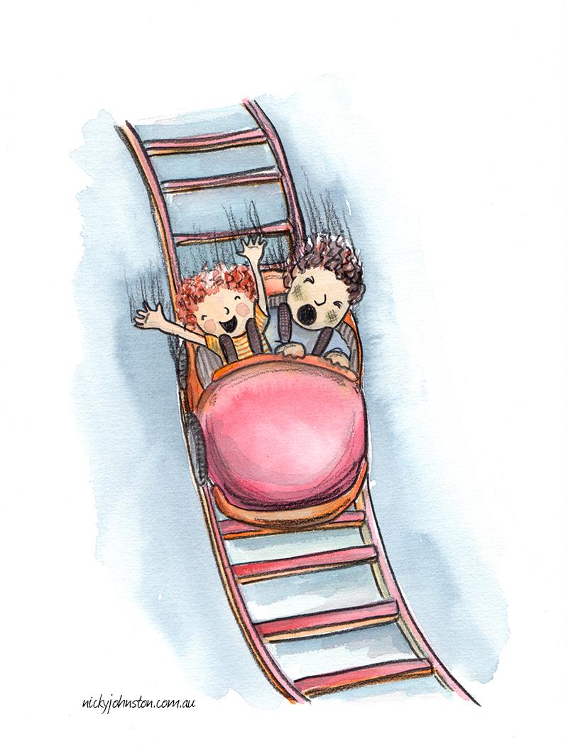 nicky-johnston-illustration-challenge-themepark