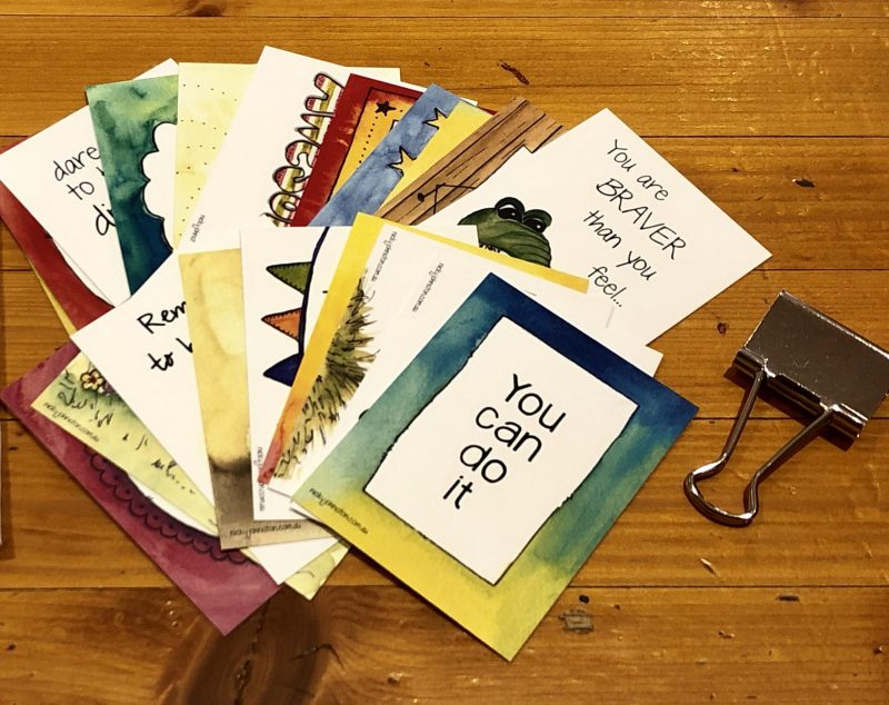 Think Happy Inspirational Cards by Nicky Johnston